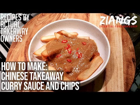 REAL Chinese Takeaway Curry Sauce And Chips