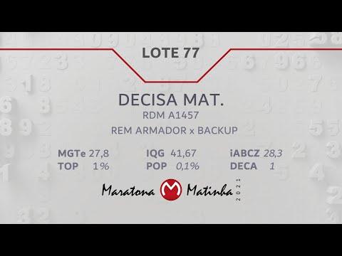 LOTE 77 Maratona Matinha