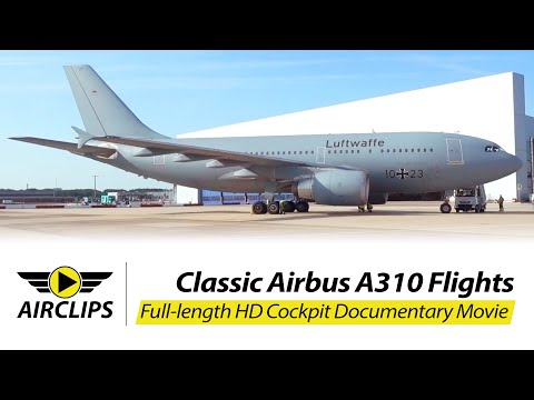 German Air Force / Luftwaffe A310 (Interflug) Adventure to Georgia ULTIMATE COCKPIT MOVIE [AirClips]