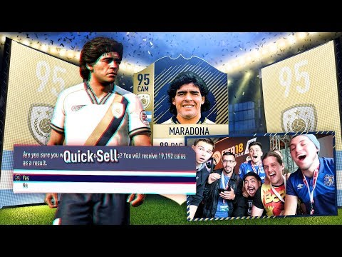 I PACKED THE FIRST EVER ICON MARADONA! MY FIRST FIFA 18 PACK OPENING