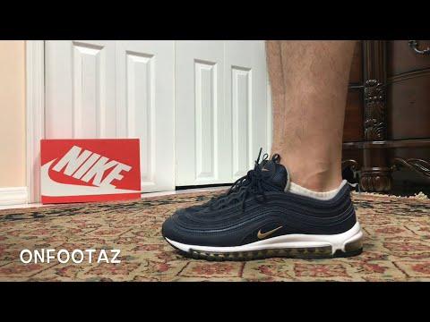d96ff3b0d1 Nike Air Max 97 Midnight Run Navy On Foot - YouTube