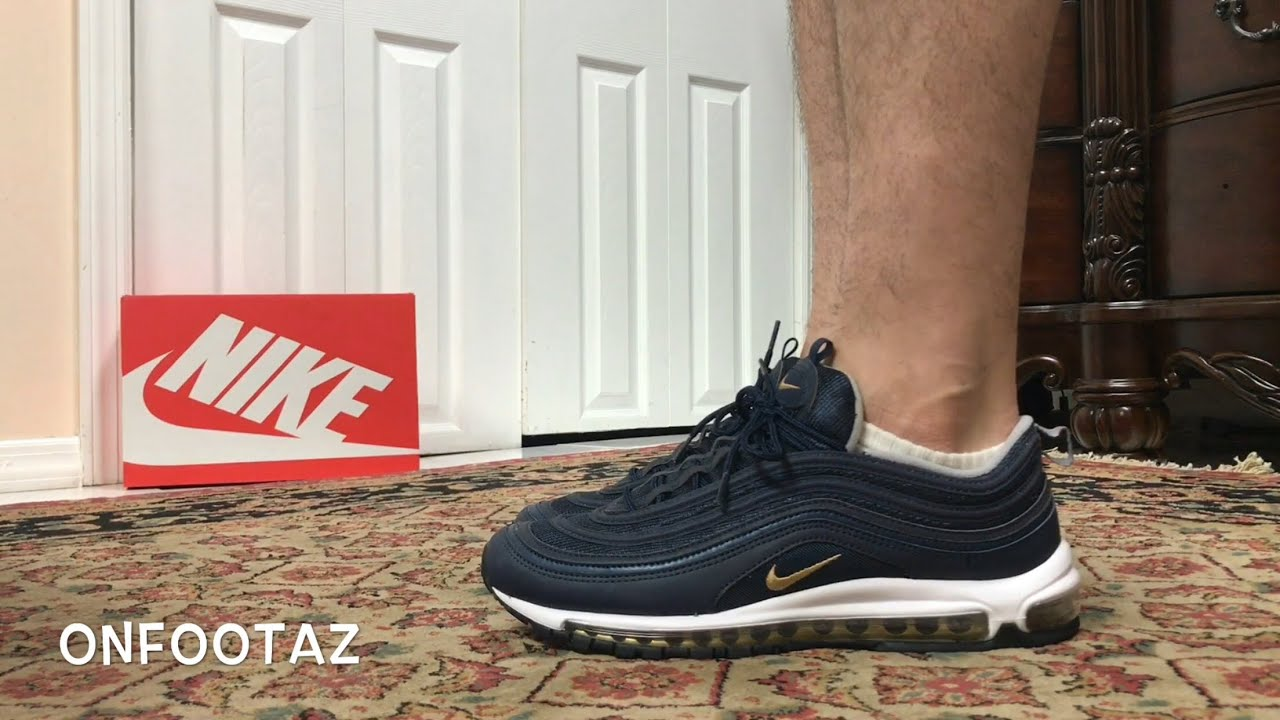 Nike Air Max 97 Midnight Run Navy On Foot