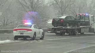 Wichita, KS Heavy Snow Morning Commute - 2/12/2020