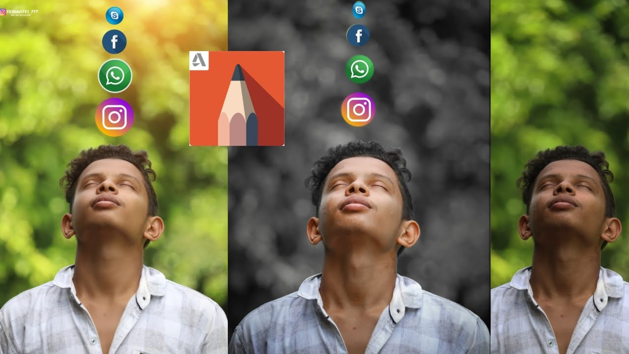 Face smooth in Autodesk sketch book photo editing apps | pimples remove, face white | tej Ravitej