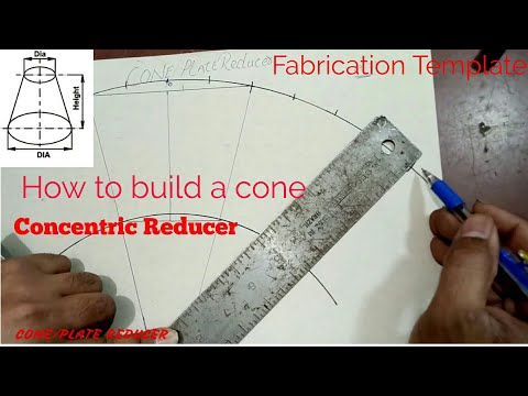 Concentric Reducer Fabrication Template ( how to build a cone) Hindi Urdu