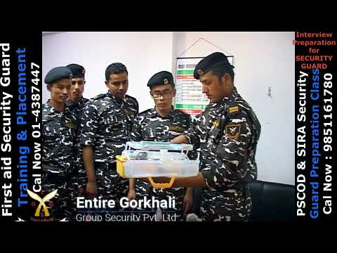 First aid training for PSBD Security Guard