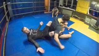 Gladiator TEAM - тренировка бойцов ММА, разминка, тренировка партера - Урок 2