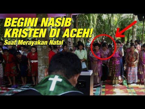 Lihat! Beginilah Nasib Perayaan Natal Umat Kristen di Aceh!
