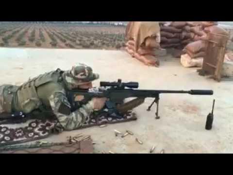 Türk Keskin Nişancı - Baskı Atışı - ElBab Suriye - Accuracy KNT