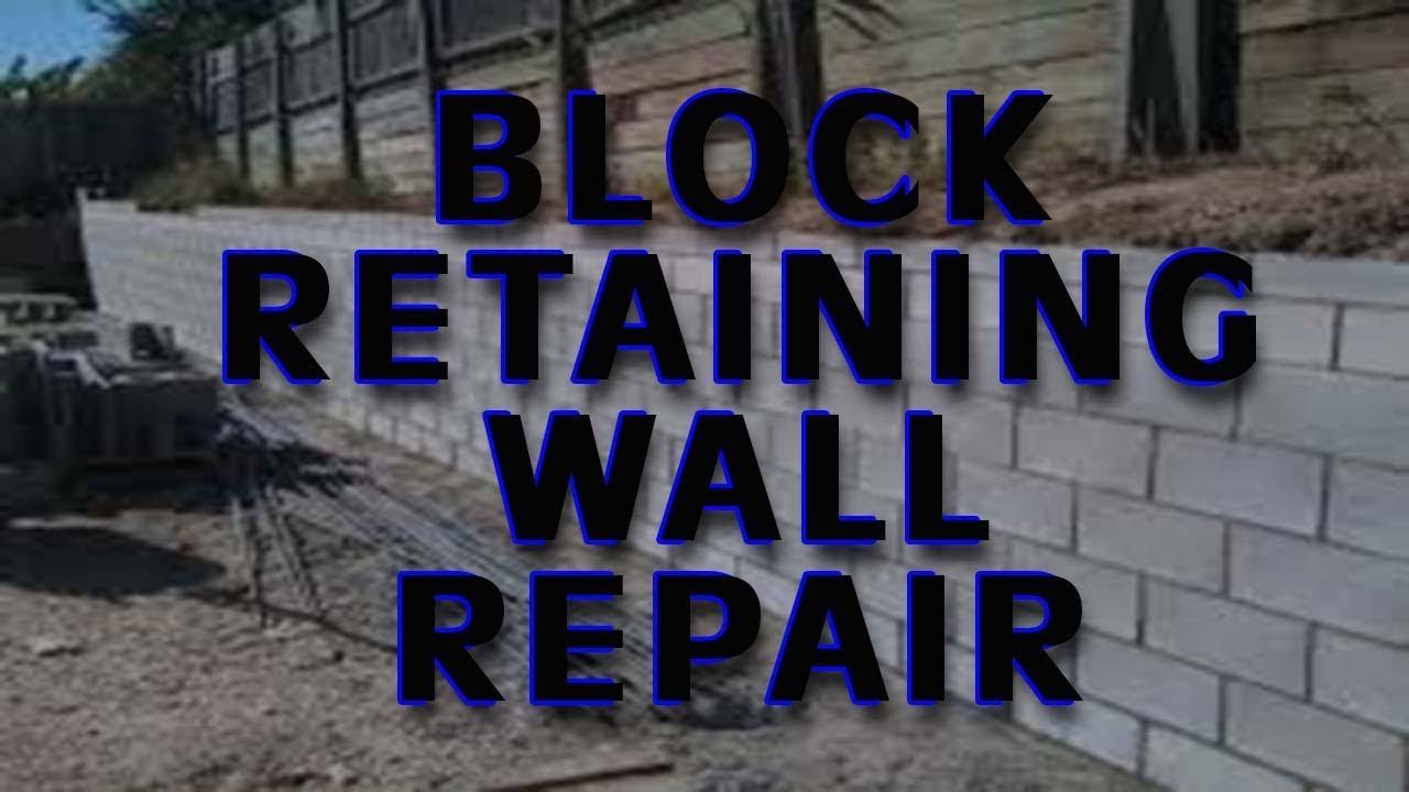 Block Retaining Wall Repair 704 787 6972 Charlotte Nc