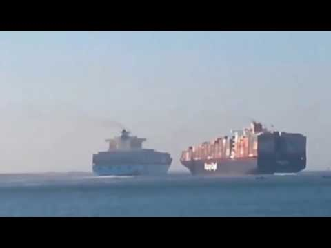 Marine accident- Container ship Japan vs China