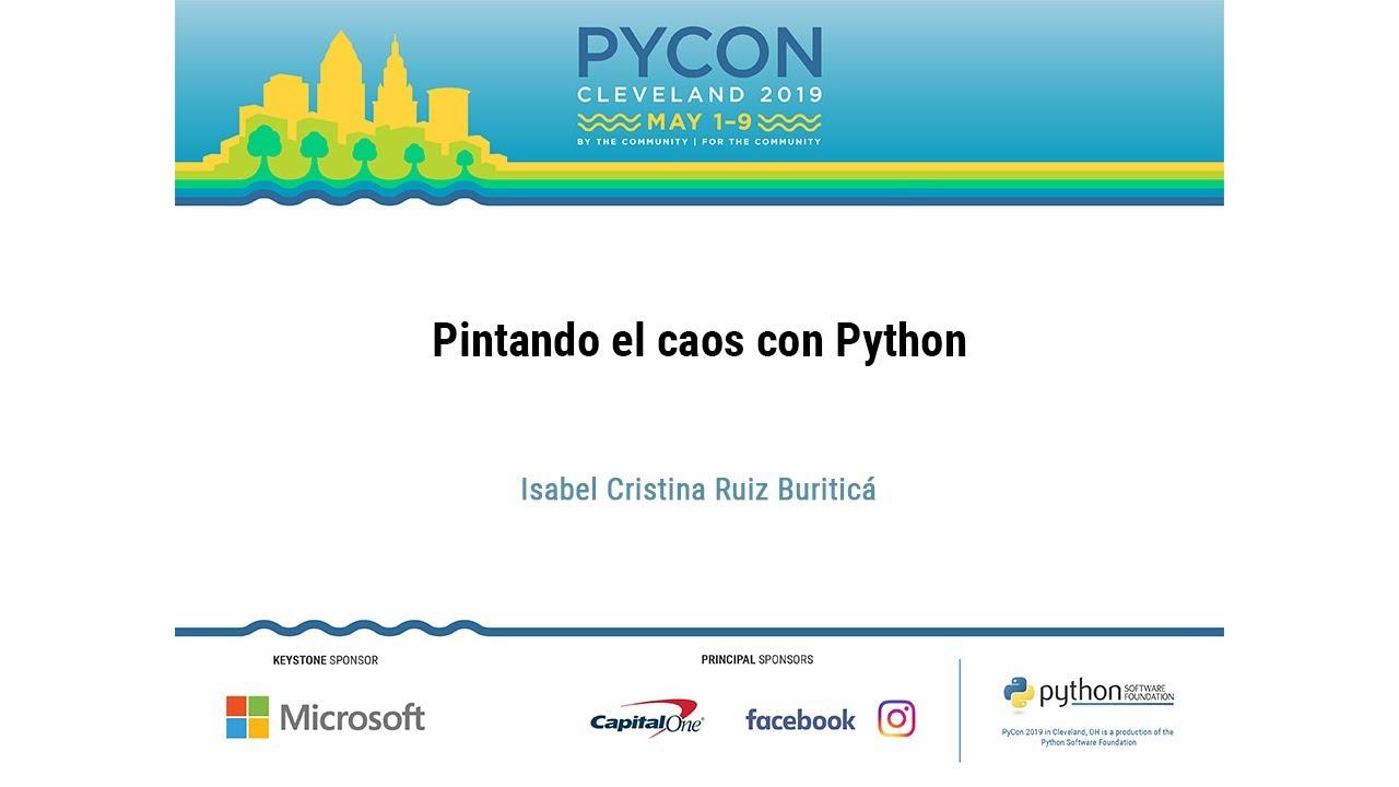 Image from Pintando el caos con Python