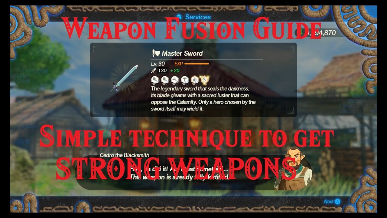 Hyrule Warriors Age Of Calamity Weapon Fusion Guide Max Out Your Weapons With This Simple Technique Youtube