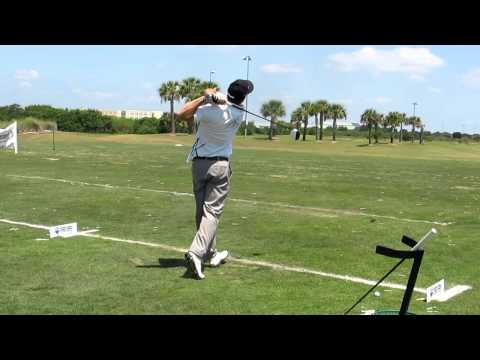 Kyle Blakely hitting Krank Golf Rage Black Driver at 2012 LDA Alligator Alley Shootout 6th Place