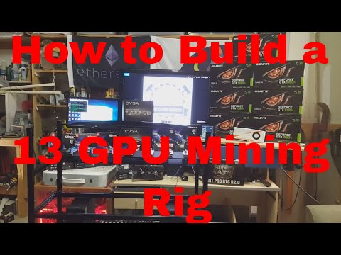 How to Build a 13 GPU Mining Rig With 7 1080 Ti & 6 Rx 580 on a ASRock H110 Pro BTC Zcash Ethereum
