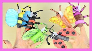 How to Make Bugs Finger Puppets - printable templates included