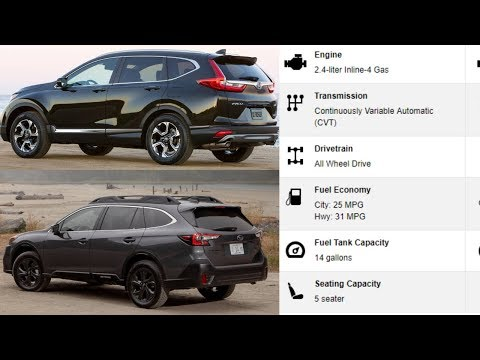2020 Subaru Outback VS Honda CRV - COMPARISON