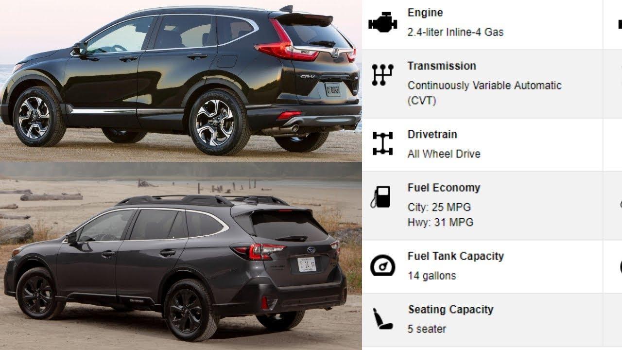 Outback Vs Crv >> 2020 Subaru Outback Vs Honda Crv Comparison