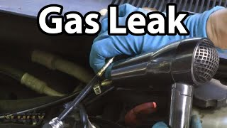 Using A Hair Dryer To Fix Gas Leaks