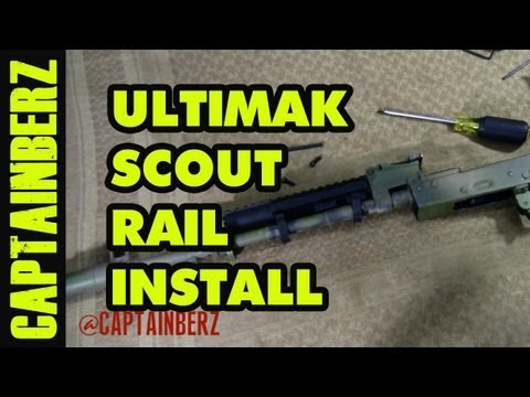 Ultimak AK Rail System Install! - YouTube