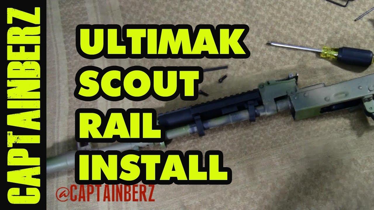 Ultimak AK-47/74 Scout Rail Installation - YouTube