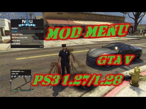 MOD MENU GTA 5 PS3 1 27/1 28 DEX/CEX BLES/BLUS +DOWNLOAD
