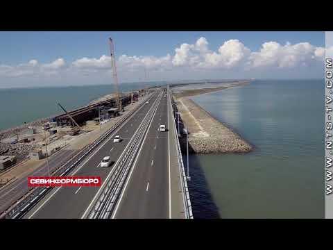 НТС Севастополь: Строители уложили первый километр железнодорожного пути на подходе к Крымскому мосту