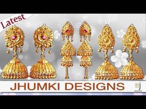 Gold Jhumki Latest Design Pure Gold 24karat   Battulal Jewellers