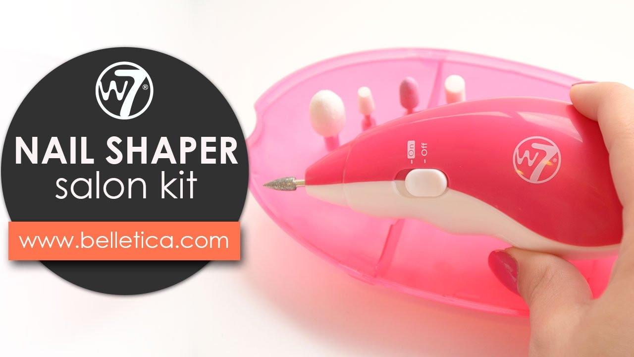Nail Shaper Salon Kit W7 - Lima electrónica en Belletica - YouTube