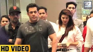 Salman And Jacqueline Return From Bangkok After Shooting RACE 3 | LehrenTV