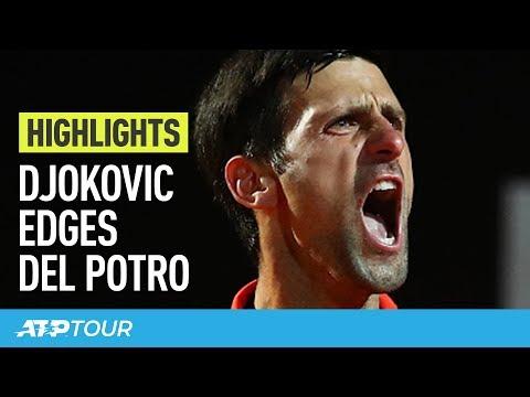 Highlights: Djokovic Overcomes Delpo; Nadal, Schwartzman Reach SF | Rome 2019
