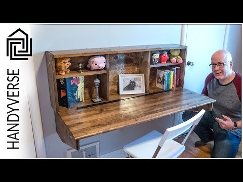 Save Space! Build This Wall Mounted, Fold Down Desk! : EP 025