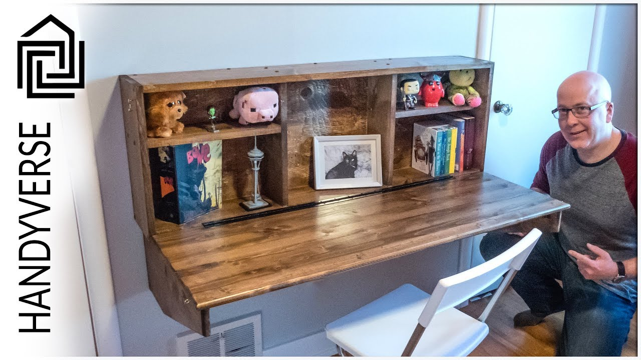 save space build this wall mounted fold down desk ep 025