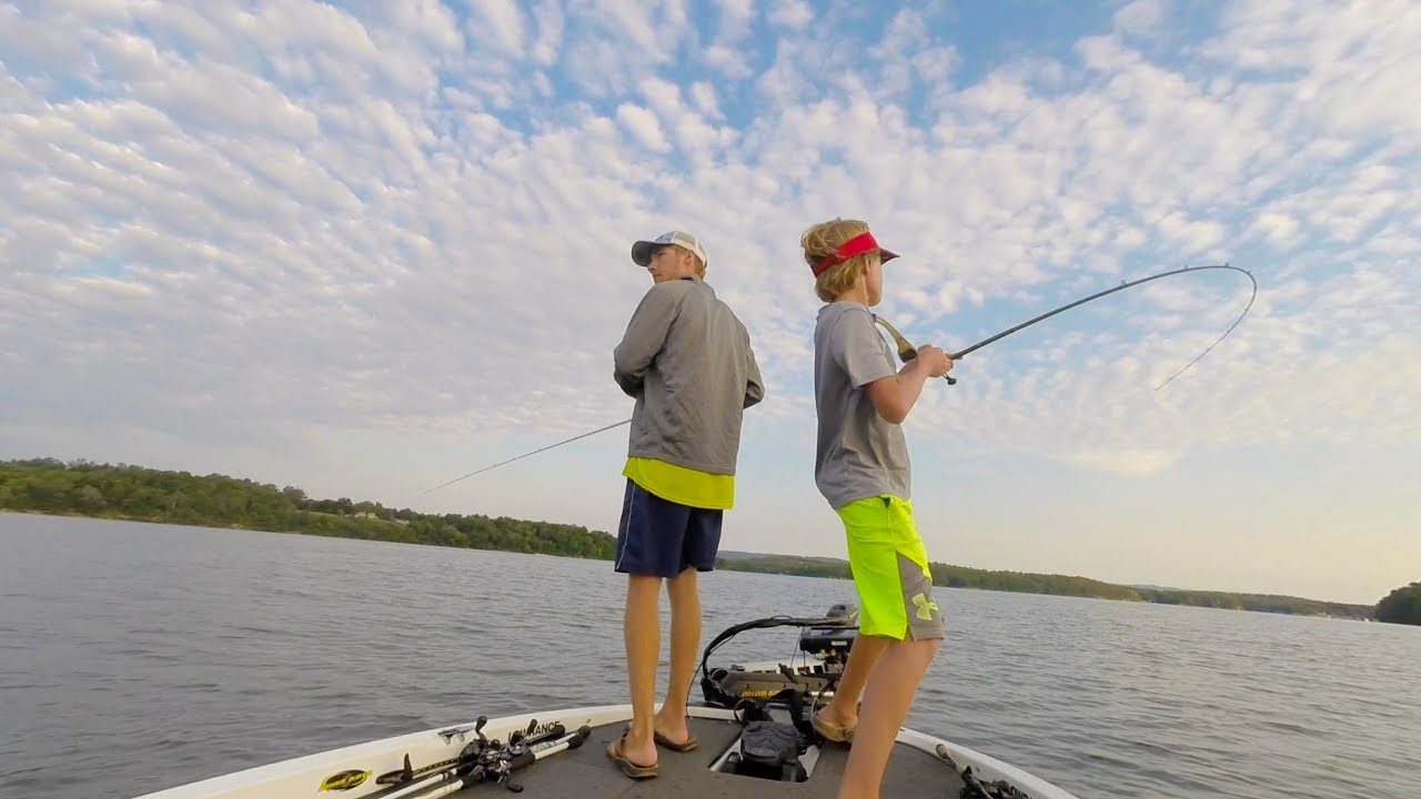 Lake chickamauga ledge fishing youtube for Chickamauga fishing report