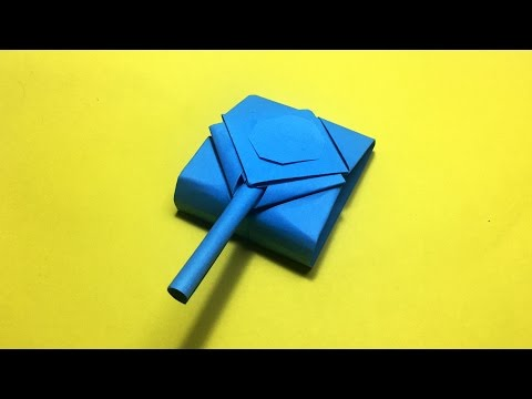 How to make origami tank - army tank that shoots DIY