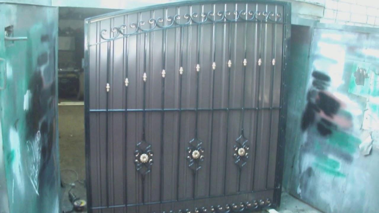 Ворота из профнастила с элементами ковки своими руками фото 311