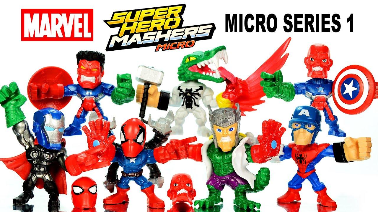 Marvel Ultimate Avengers Set Super Hero Mashers Unboxing (Hasbro .