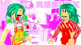 Bloxburg Twins Christmas Tree Shopping Routine (Roblox Roleplay Story)