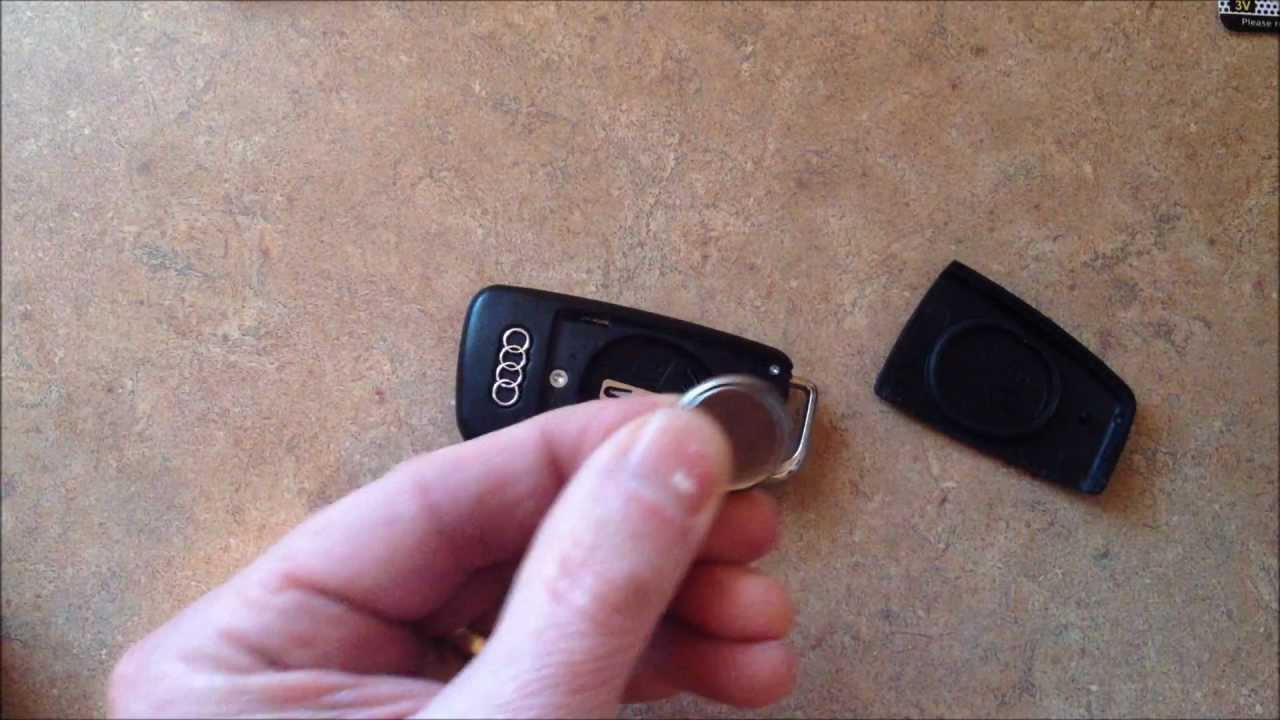how to replace the battery in your audi a6 key fob youtube. Black Bedroom Furniture Sets. Home Design Ideas