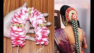 bridal rose petals flower jadai veni | wedding flower bridal jadai veni