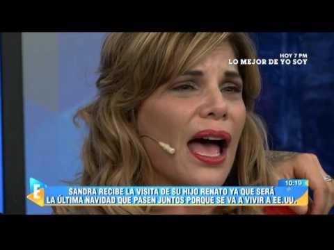 El llanto de Sandra Arana que caus� la risa de todos en el set