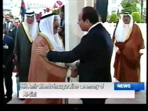 His HIghness the Amir attends swearing in ceremony of Egyptian President Abdel Fattah el-Sisi