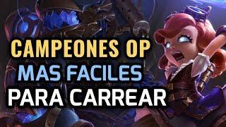 MEJORES PICKS Y CAMPEONES OP - MAS FACILES PARA CARREAR! CHAMPS SENCILLOS de League of Legends 2019