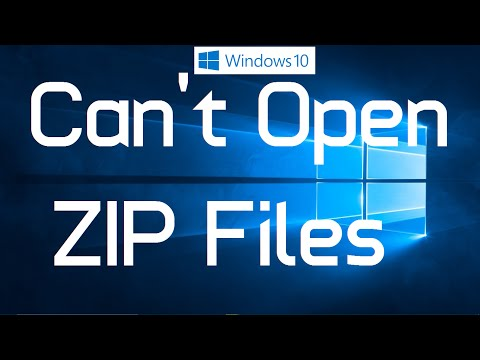 "Fix ""Unable to Open ZIP Files in Windows 10"" (One Simple Method)"