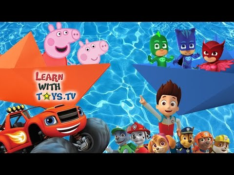 PAW PATROL PEPPA PIG BLAZE and PJ MASKS How to Make PAPER BOATS Origami Tutorial