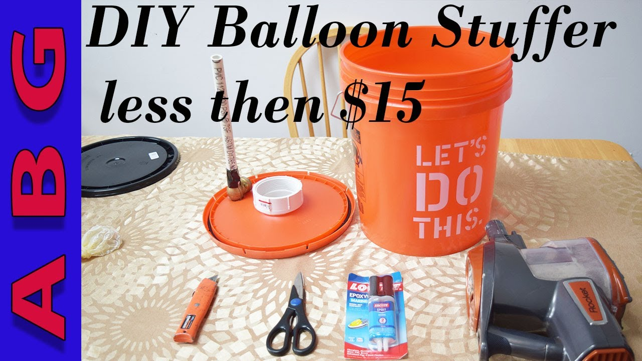 How to make a balloon stuffing machine for $15 using supplies from home  depot or your hardware store
