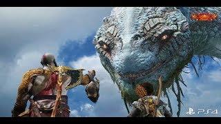 God of War 4 Cobra Gigante Cenas com a Serpente do Mundo Jörmungand (The World Serpent)
