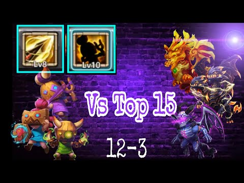 Rowdy Rascals Vs Top-15 Full Maxed Hero | 8/8 Zealous Drive | Defence Mode | Castle Clash