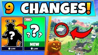 Fortnite FORTNITEMARES: NEW SKINS VARIANTS + MAP CHANGES! - 9 Secret Changes in Battle Royale!