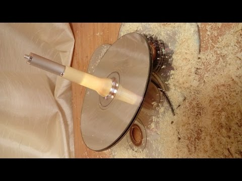 Woodturning A Compact Disc Illuminated Spinning Top
